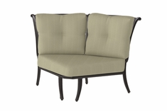 The Devonte Collection Commercial Cast Aluminum Two Back Corner Club Chair