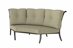 The Devonte Collection Commercial Cast Alumium Three Back Corner Club Chair