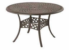 The Farah Collection Commercial Cast Aluminum Round Dining Table