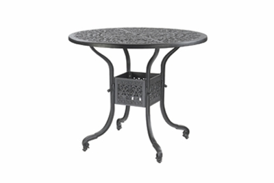 "The Floria Collection Commercial Cast Aluminum 48"" Round Bar Height Table"