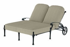 The Floria Collection Commercial Cast Aluminum Double Chaise Lounge