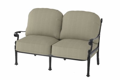 The Floria Collection Commercial Cast Aluminum Loveseat