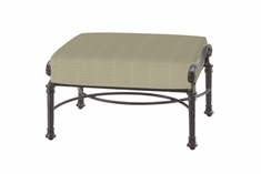 The Floria Collection Commercial Cast Aluminum Ottoman