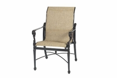 The Floria Collection Commercial Cast Aluminum Sling Standard Back Dining Chair