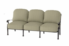 The Floria Collection Commercial Cast Aluminum Sofa