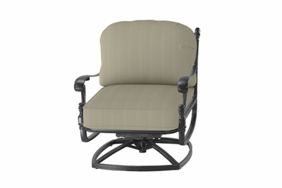 The Floria Collection Commercial Cast Aluminum Standard Back Swivel Club Chair