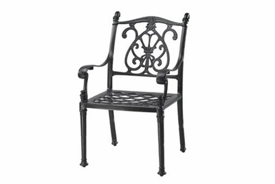 The Floria Collection Commercial Cast Aluminum Stationary Dining Chair