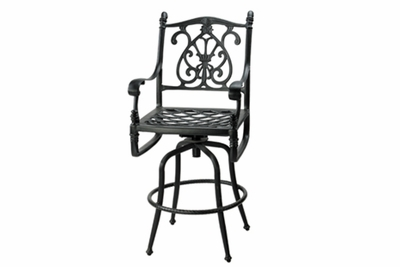 The Floria Collection Commercial Cast Aluminum Swivel Counter Height Chair