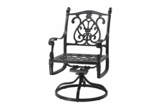 The Floria Collection Commercial Cast Aluminum Swivel Dining Chair