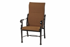 The Floria Collection Commercial Padded Sling High Back Stationary Dining Chair