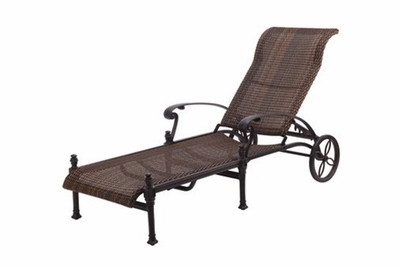 The Floria Collection Commercial Wicker Chaise Lounge