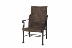 The Floria Collection Commercial Wicker Standard Back Stationary Dining Chair