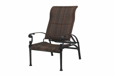 The Floria Collection Commercial Wicker Stationary Reclining Chair