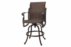 The Floria Collection Commercial Wicker Swivel Bar Height Chair
