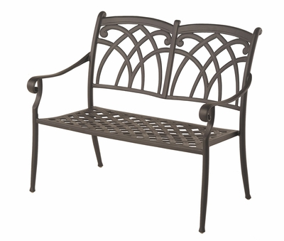 The Fontera Collection Commercial Cast Aluminum Bench
