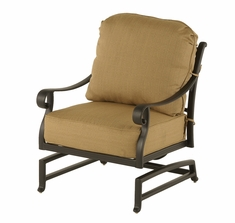 The Fontera Collection Commercial Cast Aluminum Spring Base Club Chair