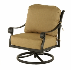 The Fontera Collection Commercial Cast Aluminum Swivel Club Chair