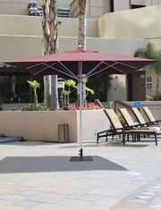 The Galtech Collection 10' x 10' Square Aluminum Market Patio Umbrella