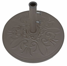 "The Galtech Collection 24"" Cast Aluminum Premium Round Umbrella Stand"