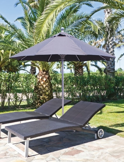The Galtech Collection 7.5' Aluminum Market Single Pole Patio Umbrella