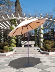 The Galtech Collection 7.5' Deluxe Market Aluminum Auto Tilt Outdoor Umbrella