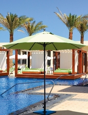 The Galtech Collection 9' Aluminum Market Patio Umbrella