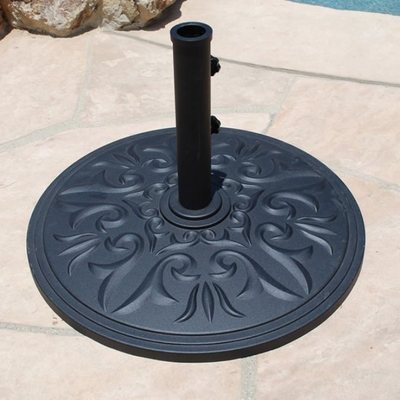"The Galtech International 22"" Cast Aluminum Premium Round Umbrella Stand"