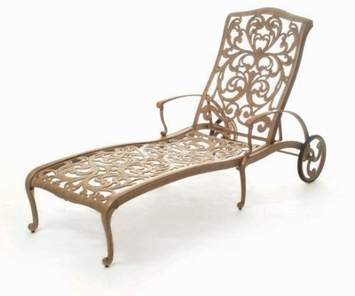 The Gradin Collection Commercial Cast Aluminum Chaise Lounge