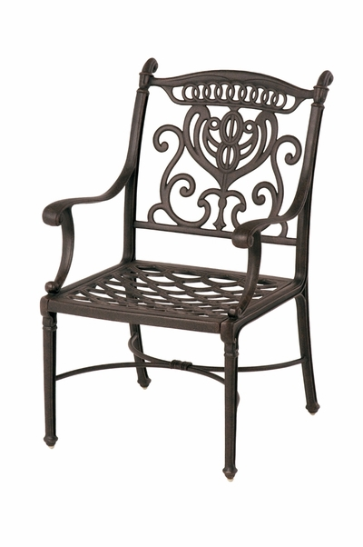 The Cayman Collection Commercial Cast Aluminum Stationary Dining Chair