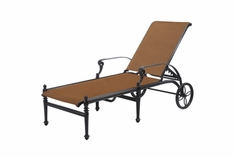 The Grandville Colleciton Commercial Padded Sling Cast Aluminum Chaise Lounge