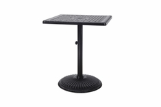 "The Grandville Collection Commercial Cast Aluminum 30"" Square Pedestal Counter Height Table"