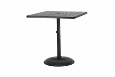 "The Grandville Collection Commercial Cast Aluminum 36"" Square Pedestal Counter Height Table"