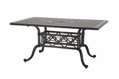"The Grandville Collection Commercial Cast Aluminum 42"" x 72"" Rectangle Dining Table"