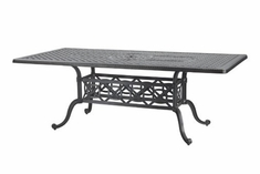 "The Grandville Collection Commercial Cast Aluminum 42"" x 86"" Rectangle Dining Table"