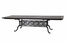 "The Grandville Collection Commercial Cast Aluminum 44"" x 74"" Rectangle Extension Dining Table"