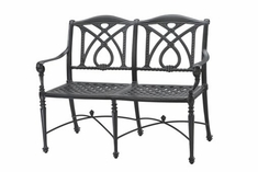 The Grandville Collection Commercial Cast Aluminum Bench