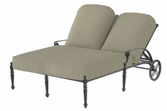 The Grandville Collection Commercial Cast Aluminum Double Chaise Lounge