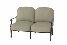 The Grandville Collection Commercial Cast Aluminum Loveseat
