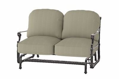 The Grandville Collection Commercial Cast Aluminum Loveseat Glider