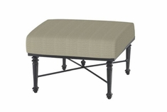 The Grandville Collection Commercial Cast Aluminum Sectional Ottoman
