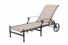 The Grandville Collection Commercial Cast Aluminum Sling Chaise Lounge