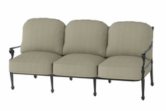 The Grandville Collection Commercial Cast Aluminum Sofa