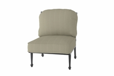 The Grandville Collection Commercial Cast Aluminum Stationary Armless Club Chair