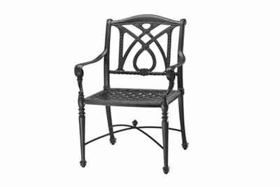 The Grandville Collection Commercial Cast Aluminum Stationary Dining Chair