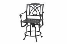 The Grandville Collection Commercial Cast Aluminum Swivel Bar Height Chair