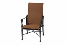 The Grandville Collection Commercial Padded Sling High Back Stationary Dining Chair