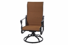 The Grandville Collection Commercial Padded Sling High Back Swivel Dining Chair