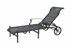 The Grandville Collection Commercial Wicker Chaise Lounge