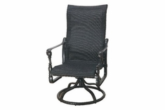 The Grandville Collection Commercial Wicker High Back Swivel Dining Chair