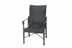 The Grandville Collection Commercial Wicker Standard Back Stationary Dining Chair